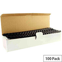 Q-Connect Binding Combs Plastic 8mm Black Pack 100
