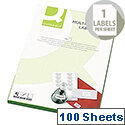 Q-Connect Multi-Purpose White Labels 199.6x289mm 1 per A4 Sheet Die Cut (100 Labels)