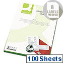 Q Connect Multi-Purpose Label 99.1x67.7mm 8 per A4 Sheet Pack of 100 White