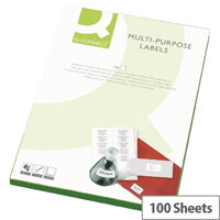 Q-Connect Multi-Purpose Labels 199.6x143.5mm (200 Labels)