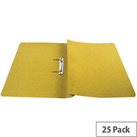Q-Connect Transfer File Foolscap/A4 35mm Capacity Yellow Pack 25