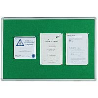 Q Connect Notice Board 900 x 600mm Aluminium Frame Green