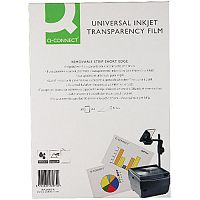 Q-Connect Inkjet OHP Transparency Film Pack of 50