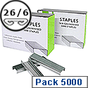 Q-Connect Metal Staples 26/6 Pack of 5000
