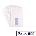 Q Connect Envelopes C5 Window 90gsm White Self-Seal Pack of 500 KF3406
