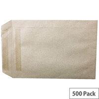 White Box C5 Envelopes Manilla Pocket Press Seal Pack 500