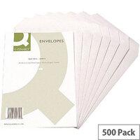 Q-Connect C5 White Envelopes Pocket Press Seal Pack 500 KF3469