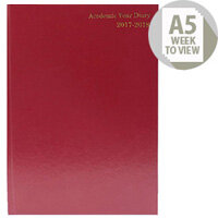 Academic Diary Week to View 2017/18 A5 Burgundy KF3A5ABG17