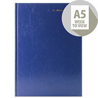 Academic Diary Week to View A5 Blue 2020-21 KF3A5ABU21