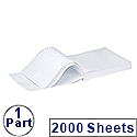 Q-Connect Listing Paper 279 x 370mm 1-Part 60gsm Music Ruled Pack 2000