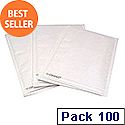 Q-Connect Bubble-Lined Envelope Size 4 White (Pack of 100)