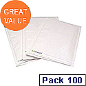 Q-Connect Size 5 Bubble Lined Envelopes 220x265mm White Pack of 100