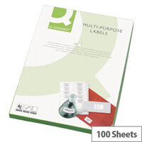 Q-Connect White Multipurpose Labels 99.1 x 42.3mm 12 Per Sheet Pack of 1200