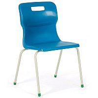 Titan 4 Leg Polypropylene School Chair One Piece 13+ Years 460mm size 6 Blue T4L6