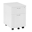 Jemini 2-Drawer Mobile Pedestal White KF74147
