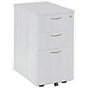Jemini 3 Drawer Desk High Pedestal 600mm White KF74149