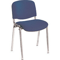 First Ultra Multi Purpose Stacking Chair Chrome Blue KF74893