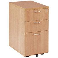 First Desk High Pedestal 3 Drawer 600mm Deep Beech KF74909