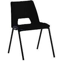 Polypropylene Stacking Chair Black Jemini KF74957