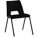 Polypropylene Stacking Chair Black Jemini KF74957