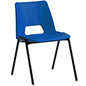 Polypropylene Stacking Chair Blue Jemini KF74958