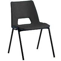 Polypropylene Stacking Chair Charcoal Jemini KF74959