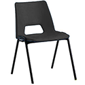 Polypropylene Stacking Chair Charcoal Jemini KF74959