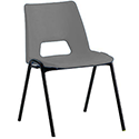 Polypropylene Stacking Chair Grey Jemini KF74960