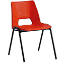 Polypropylene Stacking Chair Red Jemini KF74961