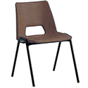 Polypropylene Stacking Chair Brown Jemini KF74962