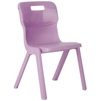 Titan One Piece School Chair Size 4 380mm Purple Pack of 10