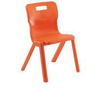 Titan One Piece School Chair Size 4 380mm Orange Pack of 10