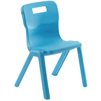 Titan One Piece School Chair Size 4 380mm Sky Blue Pack of 10