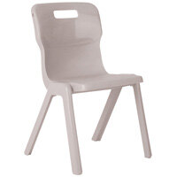 Titan One Piece School Chair Size 6 460mm Grey Pack of 10
