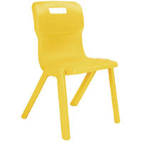 Titan One Piece School Chair Size 1 260mm Yellow Pack of 30