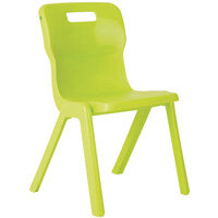 Titan One Piece School Chair Size 5 430mm Lime Pack of 30