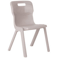 Titan One Piece School Chair Size 5 430mm Grey Pack of 30