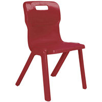 Titan One Piece School Chair Size 6 460mm Burgundy Pack of 30