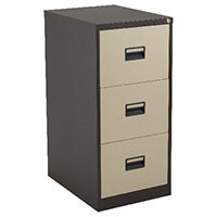 Talos 3 Drawer Steel Filing Cabinet Coffee Cream KF78767