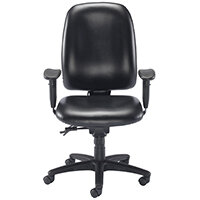 Avior Snowden Heavy Duty Office Chair Black PU KF79229
