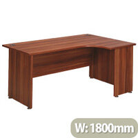 Avior 1800mm Right Hand Radial Executive Office Desk Cherry