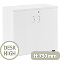 Jemini 730mm Desk High Cupboard 1 Shelf White KF838619