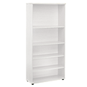 Jemini 1800mm Bookcase 4 Shelves White