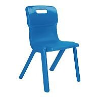 Titan One Piece School Chair Size 5 430mm Blue Pack of 10