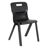 Titan One Piece School Chair Size 4 380mm Charcoal Pack of 10