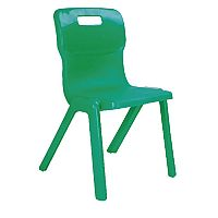 Titan One Piece School Chair Size 6 460mm Green Pack of 10