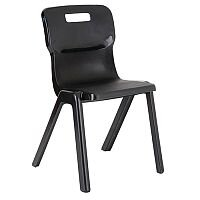 Titan One Piece School Chair Size 4 380mm Charcoal Pack of 30