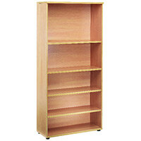 First 2000mm Bookcase 4 Shelf Beech KF839200