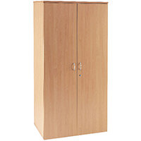 First 1800mm Cupboard 4 Shelf Beech KF839205