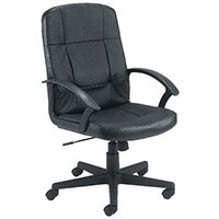 First Thames Leather Look Office Chair KF98502